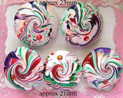 Polymer Clay Beads 80 by snowskin