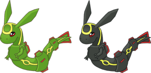 Two Little Rayquaza by SALBP