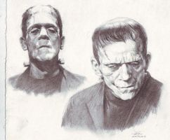 Frankenstein sketch study by FLOWERZZXU