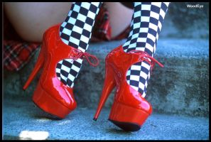 Nicoles red shoes by woodeye