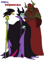 Maleficent and the Horned King ~ Pixelly by KrakenGuard