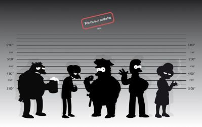 Simpsons suspects by 0leke
