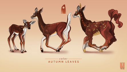 Autumn Leaves Exclusive Deer by Shapooda
