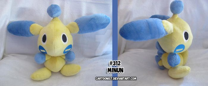 Minun PokeChao Plush by cartoonist