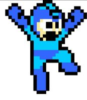 Megaman Jumping by Cobalt-Blue-Knight