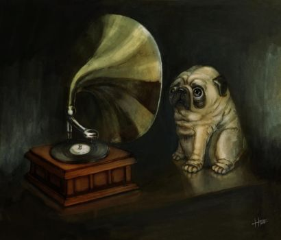 Pug and His Master's Voice by HanKai