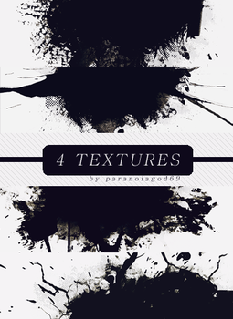 4 Splatter Textures by ParanoiaGod69