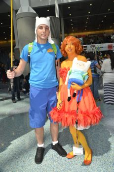 AX 2013 - Adventure Time Flame Princess Cosplay by thesmallwonder