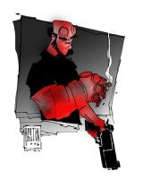 Hellboy...colored by Wasb by PatBoutin