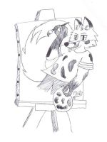 Painting Myself by Pillo-fox-artist