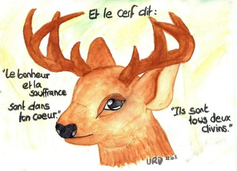The deer says by BazarDeLaNature