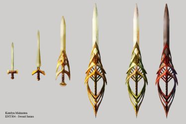 Sword Progression Concept by Kmalmsten