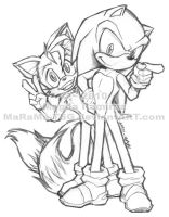 Sonic N Tails - First of 2010 by MaRaMa-Artz