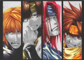 Saiyuki colours by ilaaaria