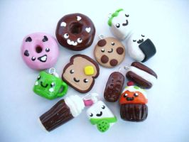 Yummy Food Charms by BOYZmakecharmstoo