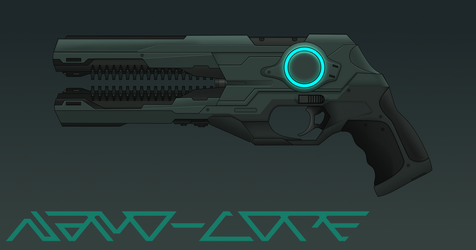 Rail Pistol Commission by Nano-Core