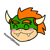 Bowser head kawaii by HuswserStar