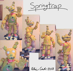 Springtrap in Polymer Clay by brusseleos