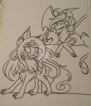 Dragon and Wolfwrath pt 2 by cutelittlepikakitty