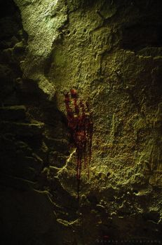 Blood stains on the wall by BoholmPhotography