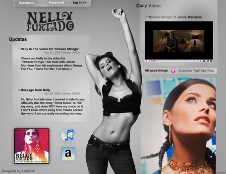 Nelly Furtado Web design by yanirsch