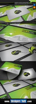 Green Leaf: Free Green Business Card Template by MGraphicDesign