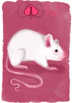 Animacards: Laboratory Rat (#4) by HelgaDi