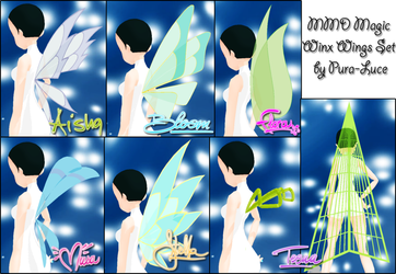 MMD WC - Magic Winx Wings Set by Pura-Luce