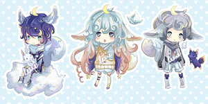 Squee Adoptables Batch 1- Sky Squees - CLOSED by Rejuvenesce