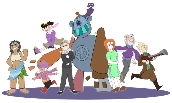 Commission - Group Character Pose by Brunited