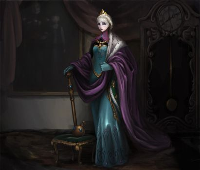 Queen Elsa of Arendelle by kimbbq