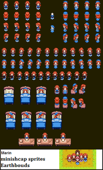 Marin Minish cap sprites. by earthbouds