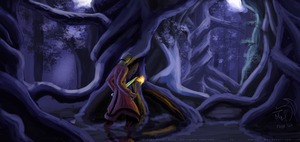 Wandering the night forest by xTernal7