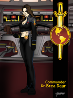 Commander Dr. Brea Daar by stourangeau