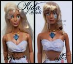 repainted ooak princess kida of atlantis doll. by verirrtesIrrlicht