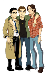 SPN: Three Best Friends by ArtisticCole