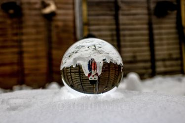 Snowman in the Orb by Fractured-Visual