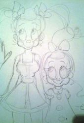 Konfetka and Junebug sketches by 17cherry