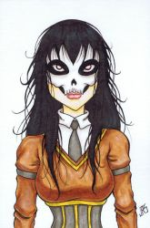 Skull Face Schoolgirl [46a] by JRS-ART