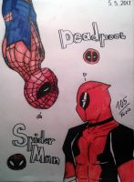 Spiderman x Deadpool [SpideyPool] by Foziz105