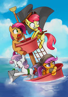 Cutiemark crusader being Pirate! by GashibokA