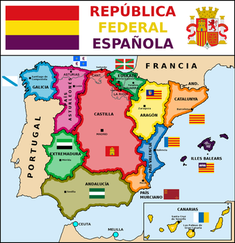 Map of Spanish Federal Republic (2) by matritum