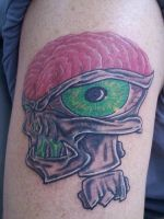Skull with brain by Timtat2