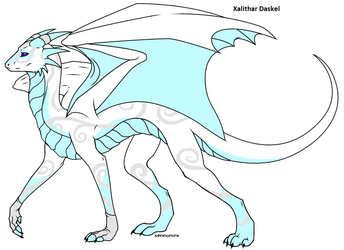 Normal Matured Ethereal Dragon form by Xalithar-Daskel