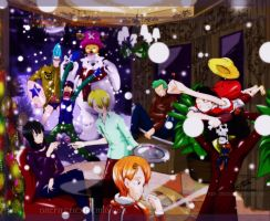 Christmas Party:Strawhat Style by MariusLorca