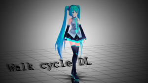 [MMD] Walk cycle [Motion DL] by MinuzNegative