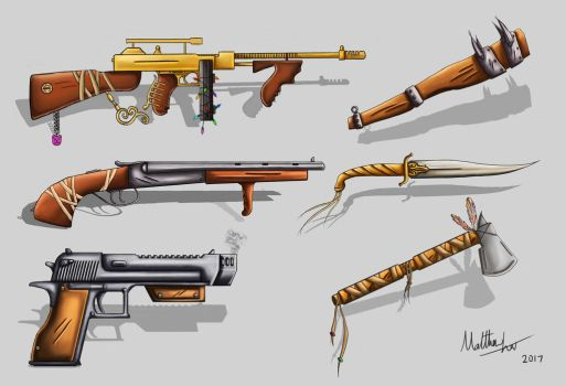 Weapon Designs by MattzProductionz