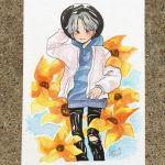 sunflower x fashion [postcard commission ex.] by ayilingadopts