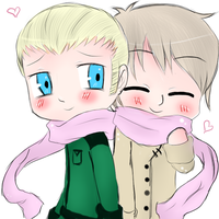 APH chibi Germany and Russia by MrLudwigBeilschmidt