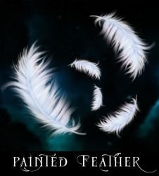 Handpainted Feathers by celairen-stock